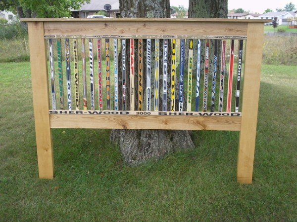 custom hockey stick furniture  hockey stick headboard, Headboard designs