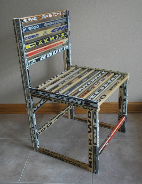 Custom Hockey Stick Desk Chair