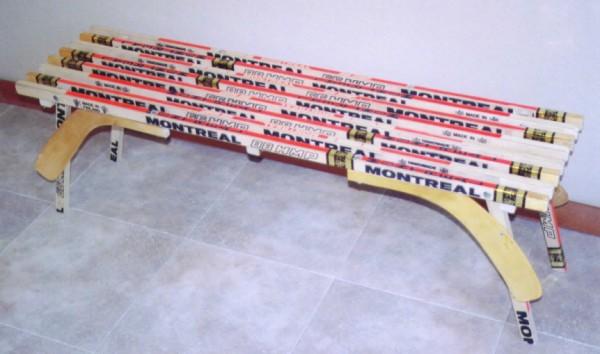 custom hockey stick furniture hockey stick bench