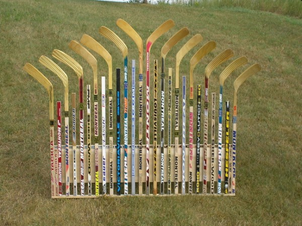 Custom Hockey Stick Furniture Headboard